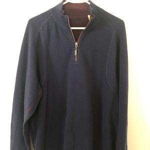 Dark Blue Tommy Bahama 3/4 Zip Sweater